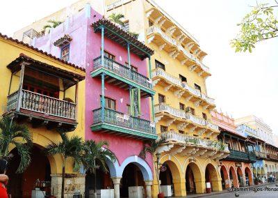 Colonial Architecture, Cartagena De Indias, Colombia South America,-1