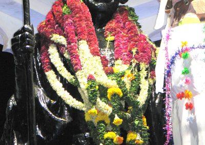 Gandi statue, Pondicherry, South India Oct 2006