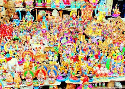 Hindu Religious Deities, Mylapore Market, Old Chennai, South India