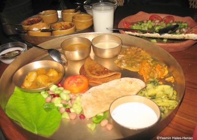 Traditional Indian Vegetarian Thali, Allahabad India 17/10/2007