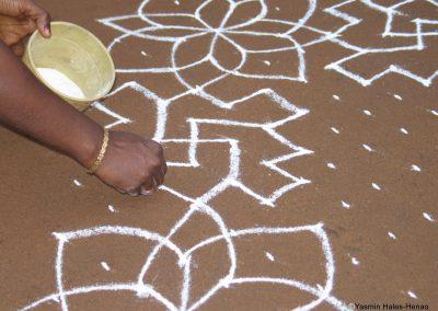 Kolam, Pongol Festival, Chettinad, South India (2)-1