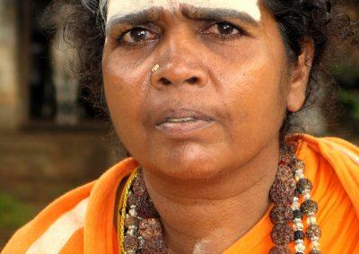 Portrait Female Sadhu, Pothigai, Tamil Nadu, South India-1