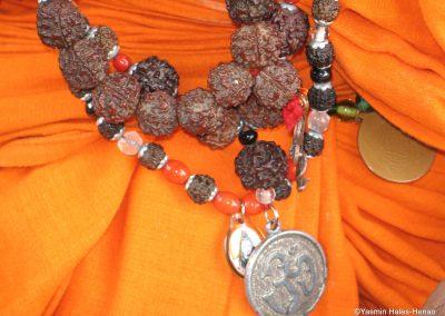 Female Sadhu necklace with sacred detail, Pothigai,Tamil Nadu Oct 2006