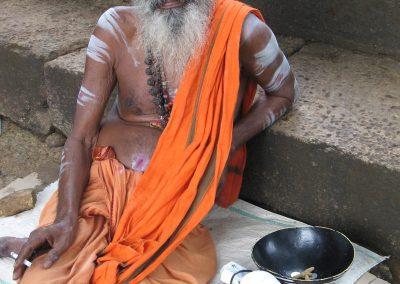 Sadhu with sunglasses and a cigarette, Pothigai, Tamil Nadu, South India