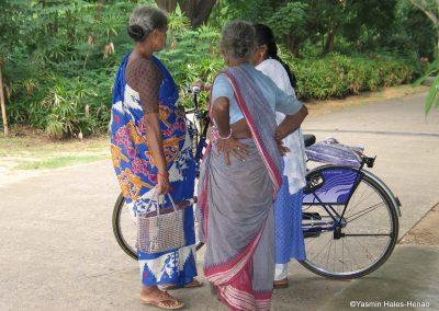 Tamil women, Botanical gardens, Chennai South India Sept 2006